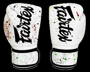 Fairtex Painter's White and Black Boxing Gloves